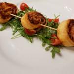 sledzik walentynki slimak z ciasta francuskiego restauracja trzy swiaty gliwice